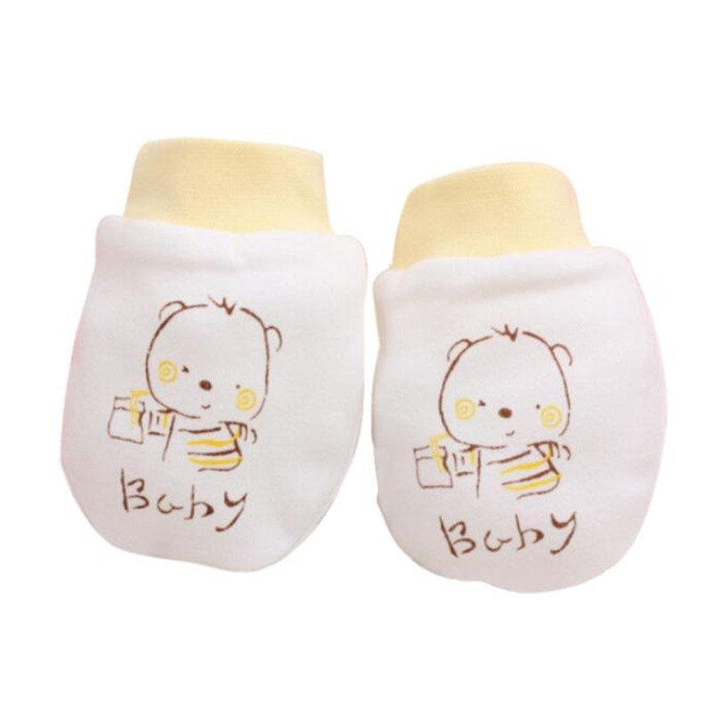 1 Pairs Fashion New Cute Cartoon Baby Gloves Infant Boys Girls Mittens Anti Scratch Soft Toddler Winter Gloves(China (Mainland))