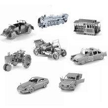 3d-металла головоломки DIY модель в подарок мировой автомобиль форд автомобилей такси жук автомобиль трактор лобзики игрушки настоящим подарком