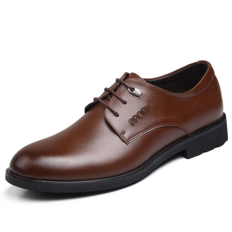 2016 New Men Dress Shoes PU Leather  Oxford For Man Business Casual Shoes For Men MX1471217<br><br>Aliexpress
