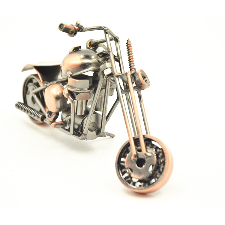 2015 Best Design Iron Motorbike Model Toys Racal Motorbike Model 3D Motor Ornaments Office Decoration(China (Mainland))