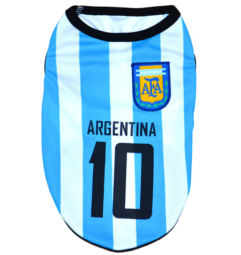 2014 World Cup Soccer Football Jersey Shirt Vest Pet Cat Puppy Small Dog clothes -Argentina(China (Mainland))