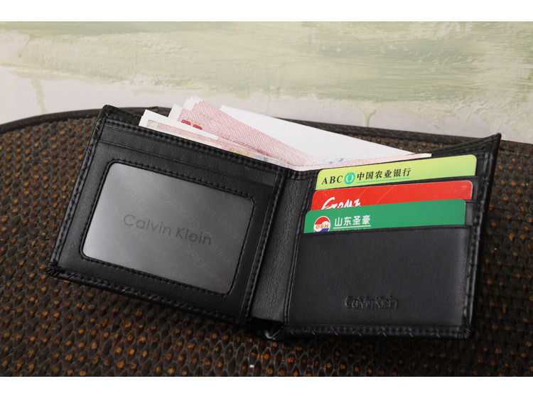 New brand men wallets casual purse genuine leather bag high quality wallet 100 cowhide money clip
