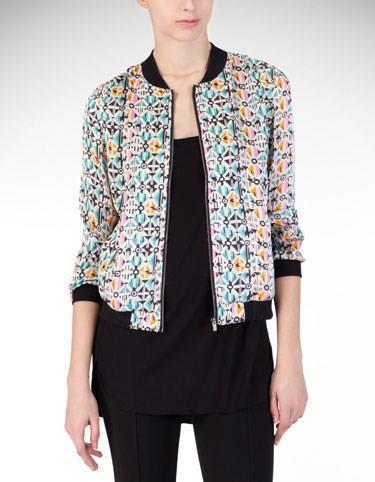 2015 Hot Sale Women Jacket Long Sleeve Round Collar Slim Outwear Female Print Overcoat Women's Tops Free Shipping(China (Mainland))