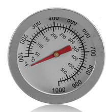 """Bakeware f/c 2 """"in acciaio inox barbecue fumatore pit grill  Bimetallico termometro temp gauge con dual gage 500 gradi di cottura  Strumenti(China (Mainland))"""