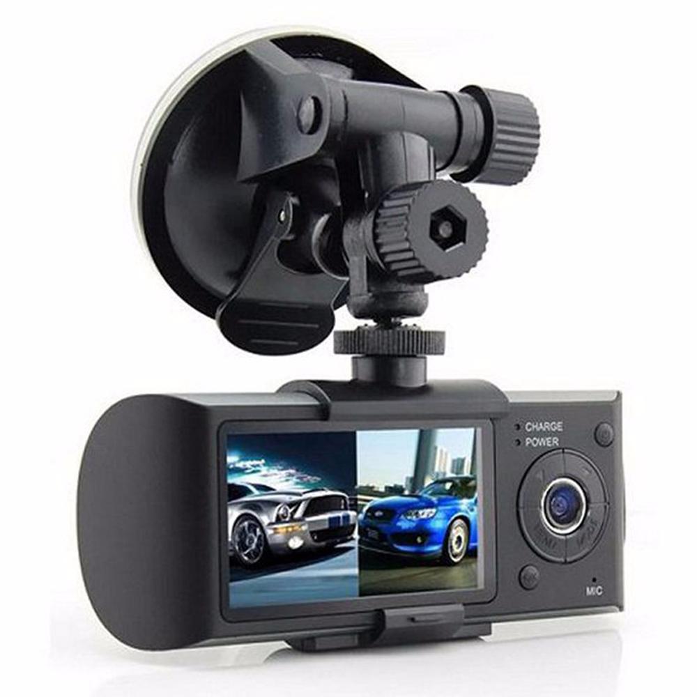 "R300/X3000 Dual Lens 2.7"" LED Display Full HD 720P Car Camera Video Recorder With Rearview Mirror G-Sensor Car DVR Car Camera(China (Mainland))"