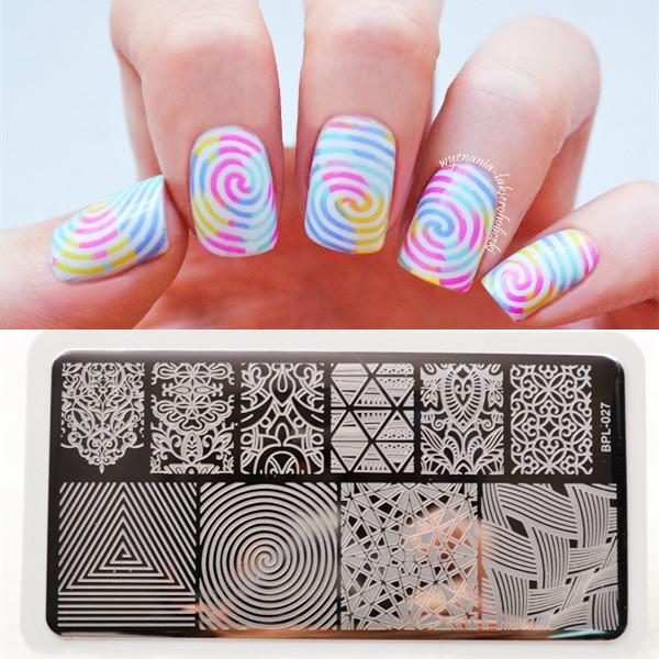 BP L027 llusionTheme Nail Art Stamp Template Image Plate Rctangular Stamping PLates BORN PRETTY 12 x