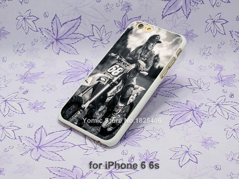 motocross girl riders Pattern hard White Skin Case Cover for iPhone 4 4s 4g 5 5s 5c 6 6s 6 Plus