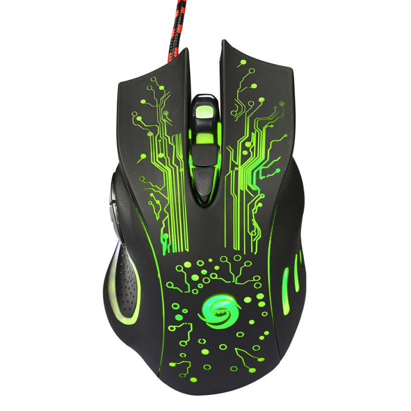 Malloom 2016 New 6 Button USB Cool Wired 5500 DPI LED Optical Gaming Mouse Rato com fio Pro Gamer For PC Laptop Computer Office(China (Mainland))