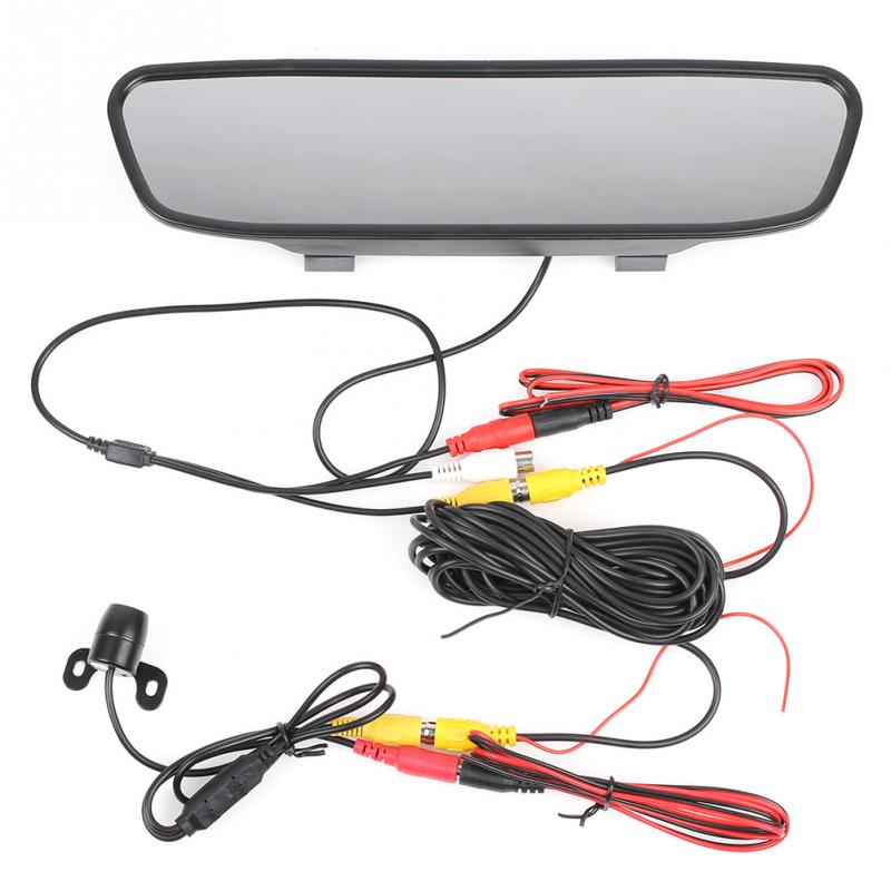 "4.3"" TFT LCD Monitor + Wireless Car Backup Camera Rear View System Night Vision(China (Mainland))"