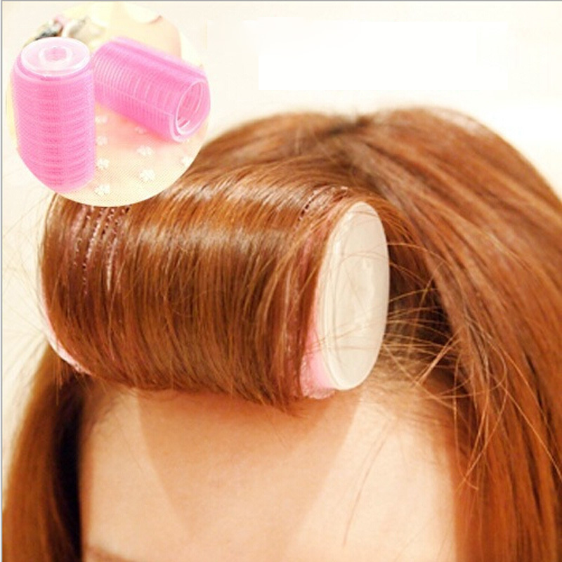 2Pcs Buckle pear head hair stick curlers hardcover magic inside Velcro adhesive roll bangs hair tail(China (Mainland))