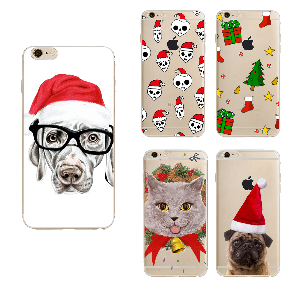 Merry Christmas cases For Iphone 6s case back cover clear lovely cartton TPU Cases for iphone 6 case(China (Mainland))