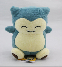 "2015 1pcs 6""15cm Pokemon Plush Toy Snorlax Plush  Anime New Rare Soft Stuffed Animal Doll For Kid Gif KaBiShou(China (Mainland))"