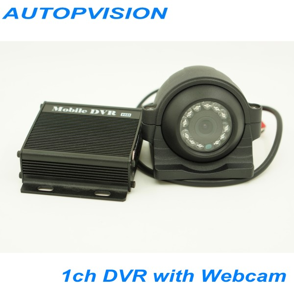 HD D1 1ch Mini DVR car/Bus/home Used 1 channel DVR Motion Detect With CCTV car Camera Working Real-time With Webcam and cable