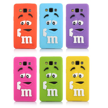 Soft Silicon M&M Cover case for Samsung Galaxy A5  J1 J5 J7 Lovely Rainbow Beans case cover For Galaxy A5 A5000 J1 J5 J7(China (Mainland))