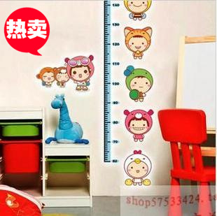 Three generations of wall stickers baby doll height stickers child height ruler sticker