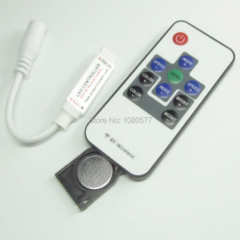 10 Set 10 Key RF RGB Controller Mini RF Wireless LED Remote Controller for RGB 5050/3528 LED Lights Strips(China (Mainland))