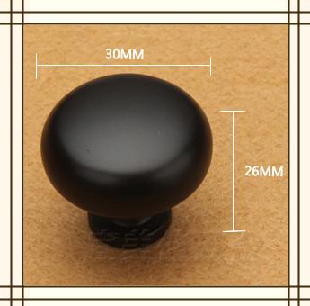 10pcs 30mm Single Hole round Knob square shape Zinc Alloy Kitchen Furniture knob drawer knob black color<br><br>Aliexpress
