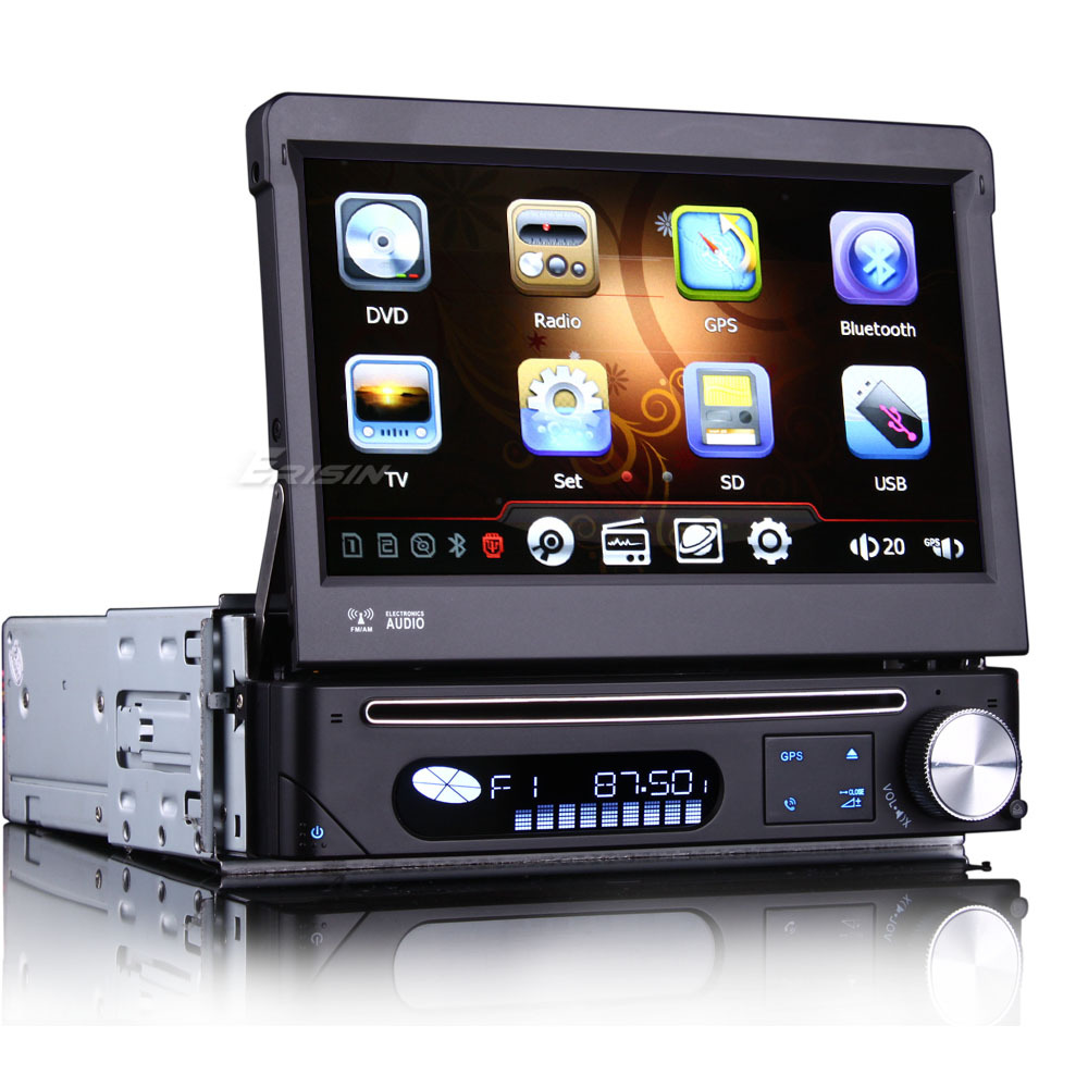 """7"""" Touch Screen One Din Car DVD 1 Din Car Radio Single Din Car GPS with Detachable Panel & MPEG2/MPEG4 DVB-T Digital TV Function(China (Mainland))"""