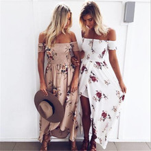 Buy 2017 new Floral print halter long dress Women white split beach summer dress Sexy backless maxi dresses vestidos for $12.72 in AliExpress store