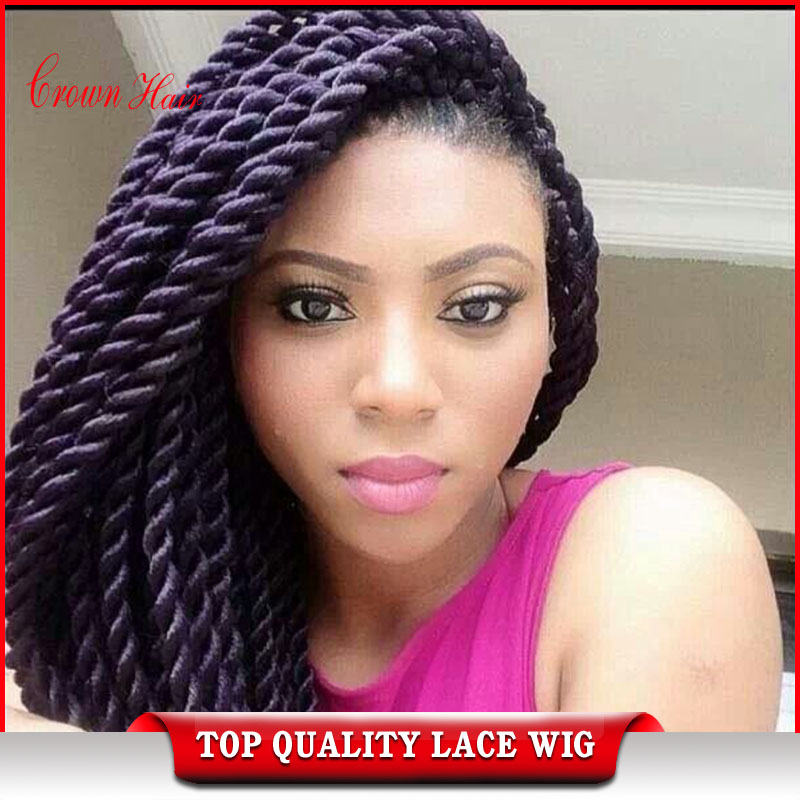 havana twist Braided lace front wigs Synthetic Twist Braiding Hair