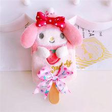 Dos desenhos animados Olá Kitty My Melody Cão Cinnamoroll Cão Pudim A Pouco Twin Star Ice Cream Keychain Bag Pingente para Crianças presentes(China)