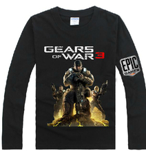 2016 Hot-selling Long-sleeve T-shirt Super Handsome Authentic Gears of War 3 Dom Portrait for Xbox 360 Men's T Tee Shirt 2xl