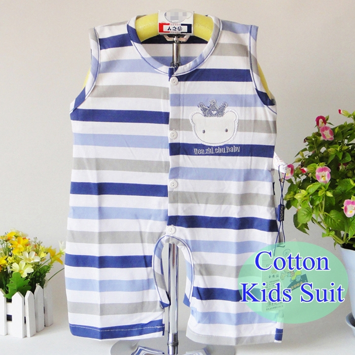 2015 cotton Round collar newborn baby's sets Exclusive Shop summer baby girl's boy's Baby clothing Climb clothes set carters(China (Mainland))