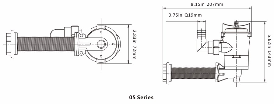 SEAFLO 12V 600GPH Livewell Bait Tank Aerator Submersible