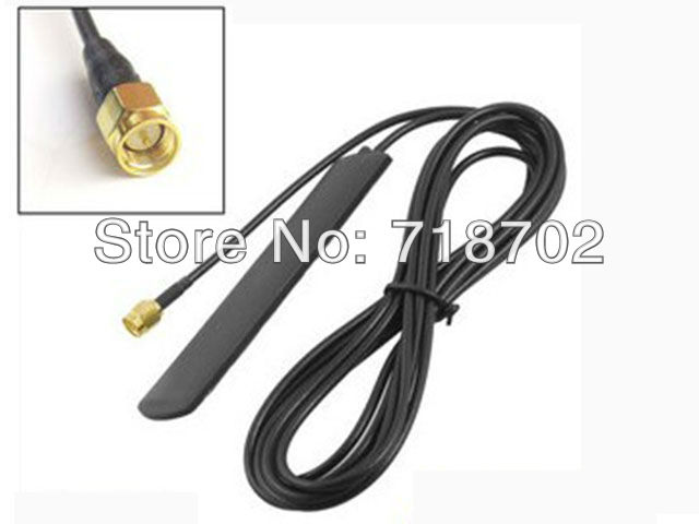 Free Shipping 5pcs 3M Sticker Vehicle-Mounted GSM UTMS 3G 2-3dbi Antenna 800 - 2170mhz Car Aerial With SMA Male Connector(China (Mainland))