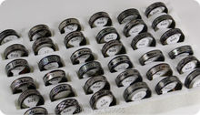 18pcs/lot Mix Black Plated Stainless Steel Rings Men's Fashion Jewelry Wholesale(China (Mainland))