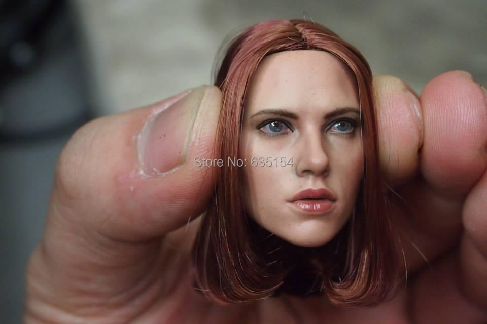 Wholesale 5pcs/pack 1/6 Scale Film Motion Determine Mannequin Toys Captain America:Black Widow Natasha Head Sculpt -Free Delivery