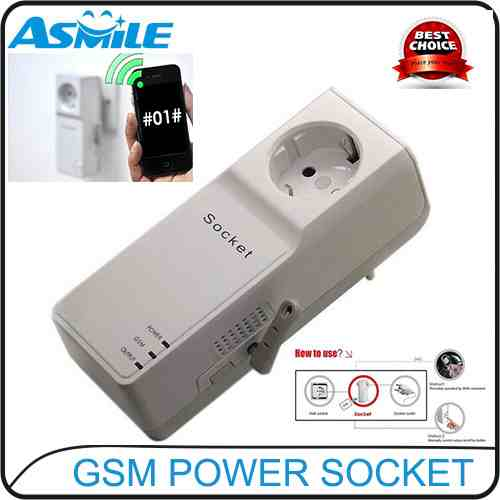 Quad Band GSM Remote Controlled Power Socket with Temperature Sensor and SIM Card Slot <br><br>Aliexpress