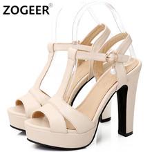 Plus Size 34-43 Hot 2017 Summer Women Sandals Fashion High Heels Sandal Sexy Gladiator T-strap Platform Party Dress Shoes Woman(China (Mainland))