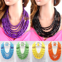 Wholesale 2013 new fashion women's Jewerly handmade Chunky acrylic Necklace with earring set  Lead&nickel Compliant  6990