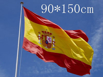 Spain Flag for fans EURO CHANMPIONS 2016 Spain National Flag Flying Size 3*5 Ft 30''* 60'' 90*150cm(China (Mainland))