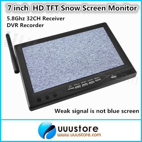 RC800 7 inch Wireless HD LCD TFT Snow Screen Monitor with 5.8Ghz 32CH Receiver and DVR Recorder For FPV System(China (Mainland))