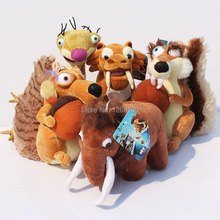 Ice Age 2 Plush Stuffed Toys Collectibles One Set 5 Different Styles  Squirrel Stuffed Sloth Elephant tiger Plush Toy (China (Mainland))