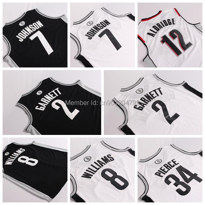 #2 Kevin Garnett #8 Williams #34 Pieace #7 Johnson retro mesh playoffs Jersey The subject field Mens Shirt Authentic Jerseys(China (Mainland))