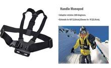 Go pro Accessories Set Chest Head Belt Strap Mount Floating Handle Monopod Helmet strap Large Case