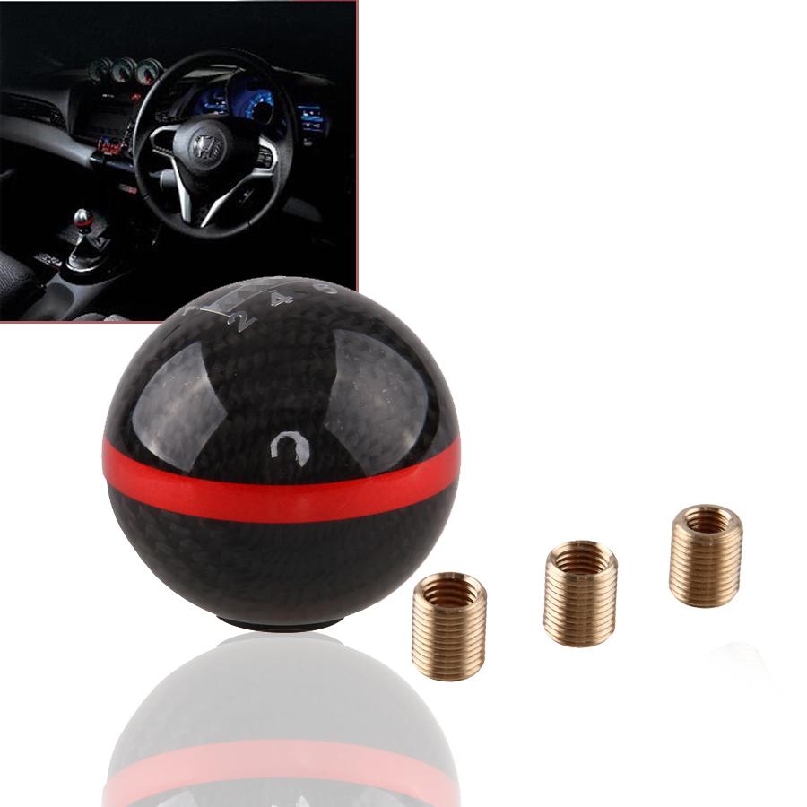 Универсальный новый черный углеродного волокна и алюминиевого сплава руководство Fit автомобилей переключения передач рычаг переключения рычага придерживайтесь