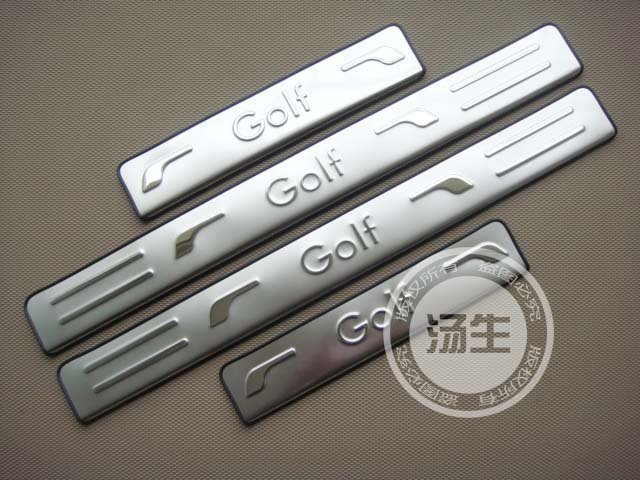 Free Shipping 2010-2012 Volkswagen Golf 6 MK6 High quality stainless steel Scuff Plate/Door Sill(China (Mainland))