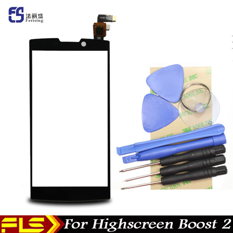 Original New Digitizer Touch Screen for Createl D10 Highscreen boost II 2 se innos D10 D10C Panel Replacement Glass with tool