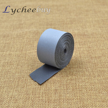 5Mx2.5cm Safety Silver Reflective Tape Stripe Self Adhesive For Warning Fabric(China (Mainland))
