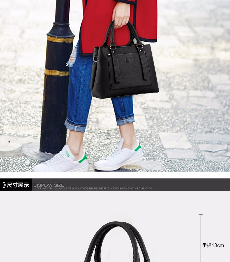 ซื้อ 30*23*14ความจุขนาดใหญ่ผู้หญิงกระเป๋า2016ใหม่หนังPUกระเป๋าสะพายแข็งธุรกิจ.