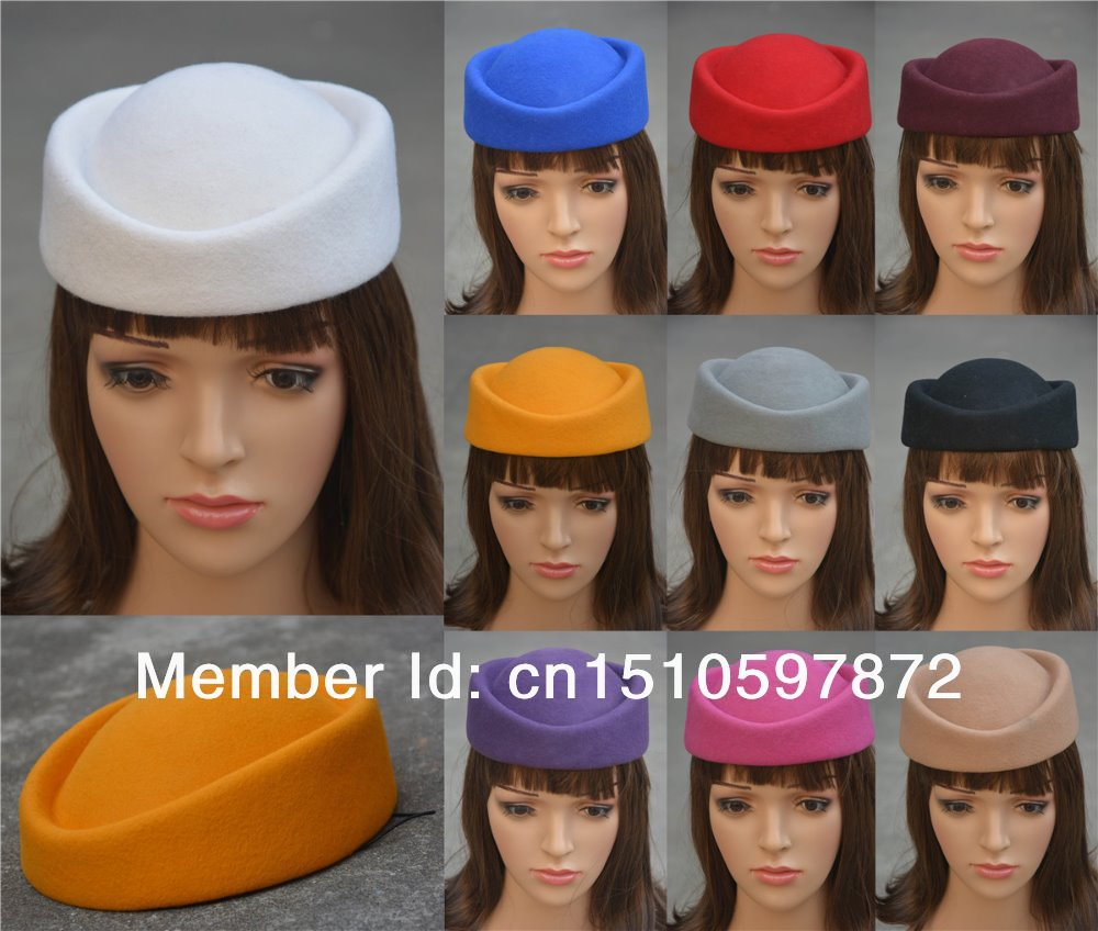 A139 Cocktail Fascinator Base Wool Air Hostesses Pillbox Hat Millinery Making Material Supply(China (Mainland))