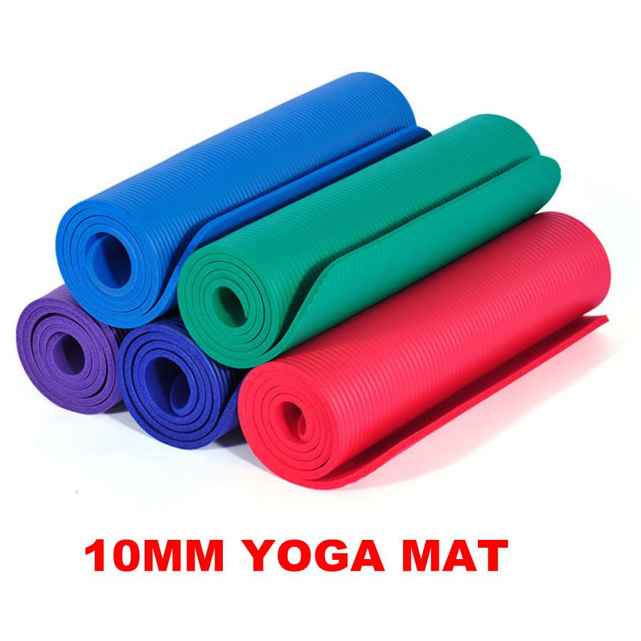 MESSON 10MM Yoga Mat NBR Material No Slip Yoga Mat