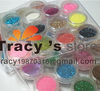 12 Color  Nail Art Glitter Powder/ nail art glitter dust / nail decoration  whole sale price NAG12