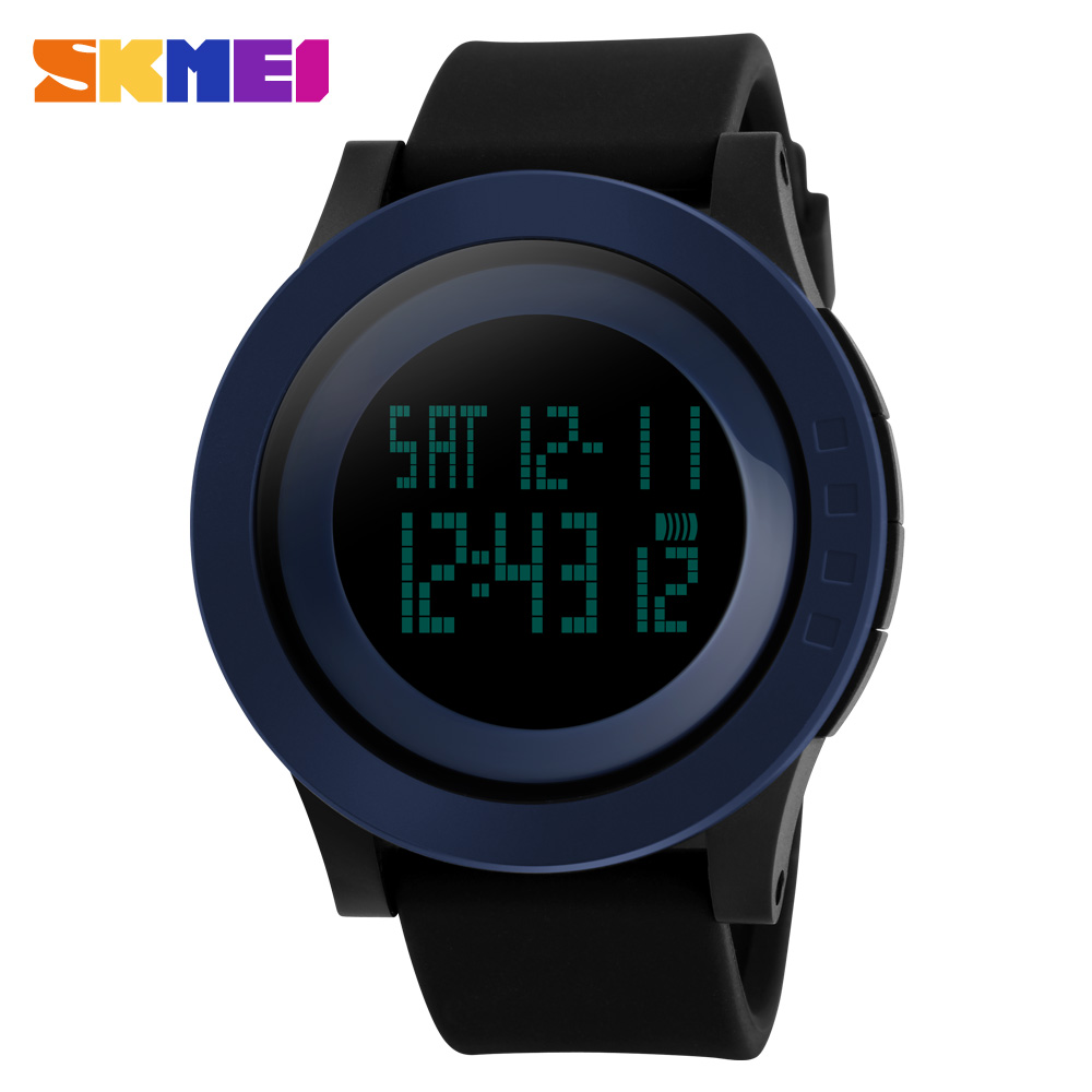 2016 New SKMEI Brand Men And Sports Watches Fashion Casual LED Digital Watch Relogio Masculino Jellies Military Wristwatches(China (Mainland))
