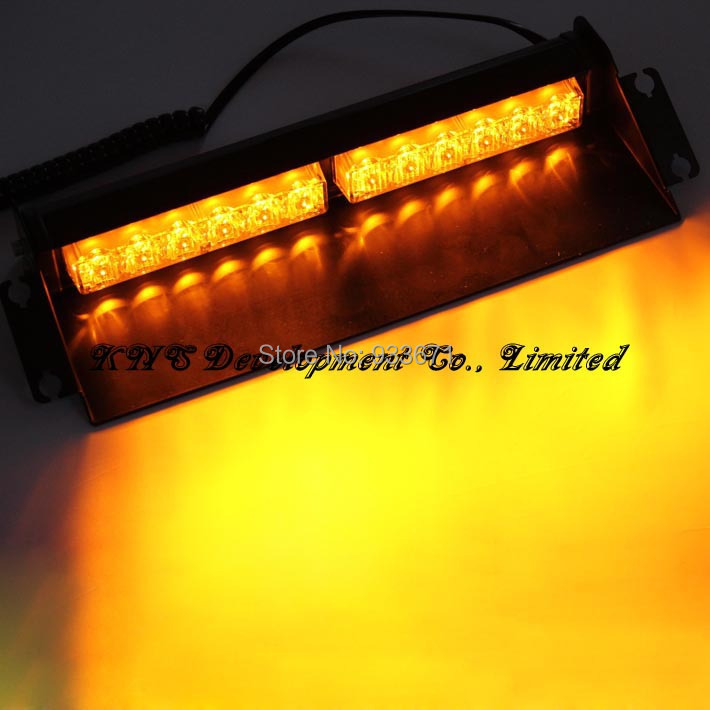 12 Led 12W Car Windshield Strobe Warning Light Windshield Dash Light with Suckers and 9 Flash Modes Red/Blue/Yellow/White Option(China (Mainland))