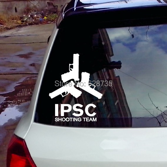 Free shipping fashion cool car decals , vinyl waterproof ipsc gun decal stickers for the whole car body(China (Mainland))